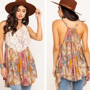 NWT Free People Count Me In Trapeze Tunic XS